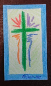 Rainbow Cross by Karen Simpson