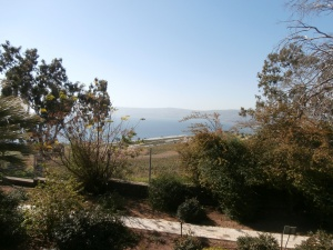 The Sea of Galilee from the Mount of the Beatitudes