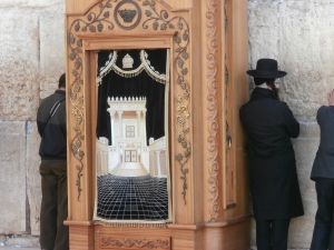 Cabinet containing the Torah at the Western Wall