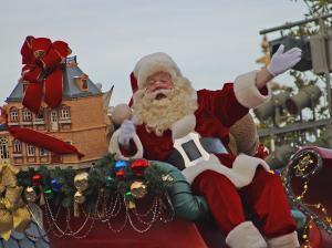 Santa in the Disney Parade